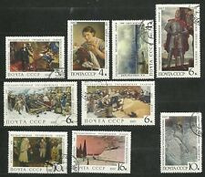 Russia 1967 SC # 3420 - 28.The State Tretyakov's Gallery. Set of 9. CTO VF