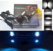 LED Kit G5 80W H9 10000K Blue Head Light Two Bulbs High Beam Upgrade 4 Side OE