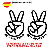 Vinilo de corte manos SOY MOTERO x2 de 8CM POR PROPORCION sticker decal