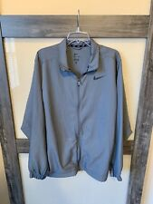 NIKE DRI-FIT Men's Track Jacket Size XL Full Zip Gray Very Nice