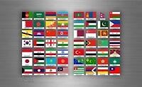 56x Aufkleber flagge fahne verschiedene asien staaten del erde r2 scrapbooking