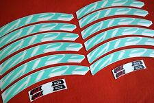 ZIPP 404 2014 STYLE CELESTE -BIANCHI-  REPLACEMENT DECAL SET FOR 2 RIMS