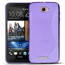 Handy Hülle für HTC One S Silikon Case Ultra Slim Cover Schutz Hülle Tasche Lila