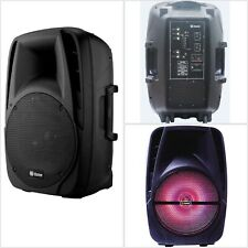 "Loud Speaker 1,500 W Peak Power Bluetooth Wireless 15"" Woofer Portable Mic Input"