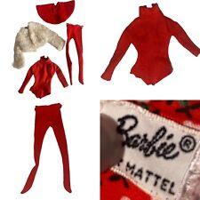 Vintage Barbie Doll Icebreaker Outfit Jacket Skirt Bodysuit Tights