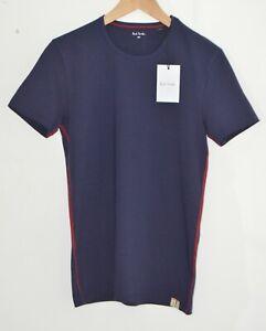 PAUL SMITH dark navy blue Cotton Jersey Lounge short sleeve Tshirt top SMALL