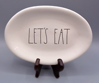 Rae Dunn Let's Eat Oval White Plate Tray Dish Farmhouse Kitchen Decor by Magenta