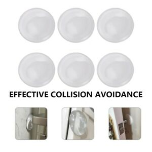6*Door Knob Wall Shield Round Rubber Protector Self Adhesive Handle Bumper Guard