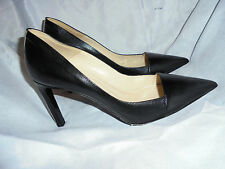 JOSEPH WOMEN BLACK REPITILE LEATHER STILETTO PUMP SHOE  SIZE UK 6 EU 39  RRP 365