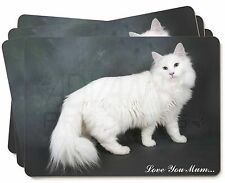 White Cat 'Love You Mum' Picture Placemats in Gift Box, AC-105lymP