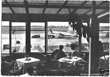 AK, Hamburg, Flughafenrestaurant, Gastraum mit Blick aufs Rollfeld, um 1960