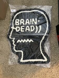 Brain Dead Logo Head Rug Black Brand New