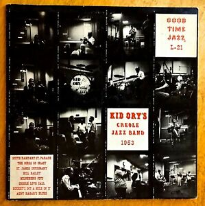 """KID ORY""""S CREOLE JAZZ BAND 1953 - Good Time Jazz L-21, 10"""" LP"""