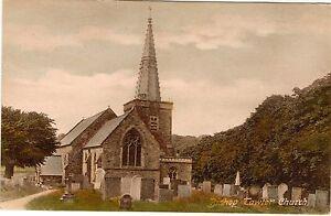 Bishop's Tawton Church - Devon - Rare Original Frith's Tinted Postcard