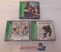 New * Final Fantasy Anthology + IX + Chrono Cross - PlayStation 1 ps1 lot V + VI