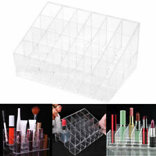 24 Trapezoid Clear Display Lipstick Stand Case Organizer Makeup Dzjo Cosmet H1W6