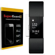 2-PACK SuperGuardZ Clear FULL COVER Screen Protector Film For Fitbit Charge 2