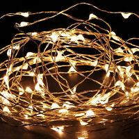 Warm White Fairy String Lights Xmas Christmas Wedding Party Garden Decor Lamp