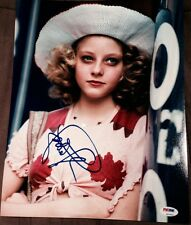 JODIE FOSTER SIGNED AUTOGRAPH YOUNG TAXI DRIVER POSE 11X14 PHOTO PSA/DNA Z97653