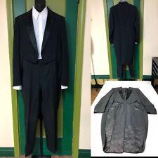Vtg 1960's Men's 2pc Tuxedo Tails w/ Pants. The Printz Co . size 46 Long. 1960'