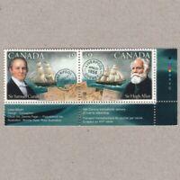 PIONEERS OF TRANSATLANTIC MAIL SERVICE = LR se-tenant pair MNH Canada 2004 2042a