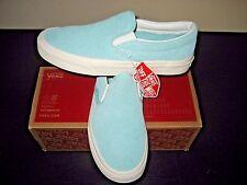 Vans Classic Slip On Womens Perf Suede Blue Light Blanc De Blanc shoes size 8.5