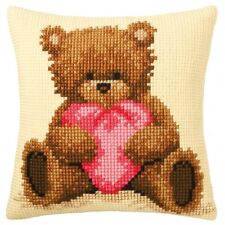 Vervaco Cross Stitch Cushion Kit: PN-0011090 Popcorn with Heart