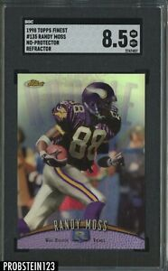 1998 Topps Finest Refractor No-Protector #135 Randy Moss RC Rookie SGC 8.5