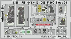 Eduard Zoom FE1048 1/48 Lockheed-Martin F-16C Block 25 TAMIYA