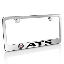 Cadillac ATS Chrome Brass Metal License Plate Frame, Official Licensed