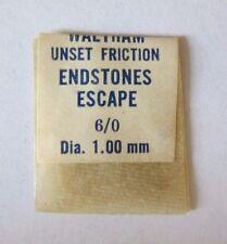 WALTHAM 6/0 SIZE ENDSTONE ESCAPE JEWEL UNSET FRICTION WATCH PART J44 NOS