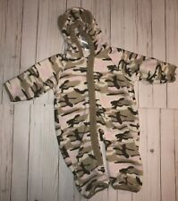 Baby girl toddler size 12 Months Columbia fleece Snow Suit Bunting pink camo