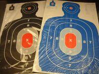 125 (SECONDS) Bulk Pack Silhouette hand gun, rifle paper shooting targets 12X18