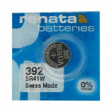 5-Pack 392 / SR41SW Renata Silver Oxide Button Batteries