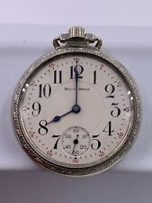 1923 South Bend 219 16 Size 19 Jewel White Gold Filled Pocket Watch
