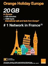 Orange Holiday Europe 20GB Internet Data Card+ 120 Minutes + 1000 Texts
