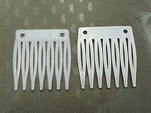 50 White Plastic Mini Hair Clips Side Combs Pin Grip Hair Pins 32mm
