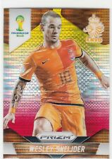 2014 Panini Prizm World Cup Yellow and Red #33 Wesley Sneijder Netherlands