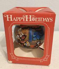 Disney Cast Member Christmas Ornament 1989 NEW Round Ball Happy Holidays