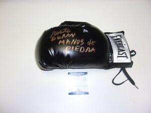 ROBERTO DURAN HOF 2007,MANOS DE PIEDRA,LAST ONE BECKETT/COA SIGNED BOXING GLOVE