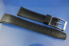 Vintage 70s HiFi 17mm French Rubber Watch Strap Band New Old Stock Chrome Buckle