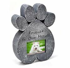 Dog Memorial Stone-Pet Memory Picture Frame Paw-prints Grave Stone Marker