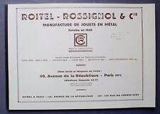 Catalogue fac-similé Les Jouets CR - ROITEL ROSSIGNOL 1878/1925