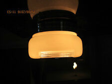 Vintage Clear & Frosted Glass Square Globe Diffuser Shade for a Ceiling Light