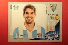 PANINI CHAMPIONS LEAGUE 2012/13 N. 222 ISCO MALAGA BLACK BACK MINT!