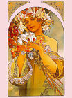 The Flower French Nouveau Alphonse Mucha Vintage Advertisement Print