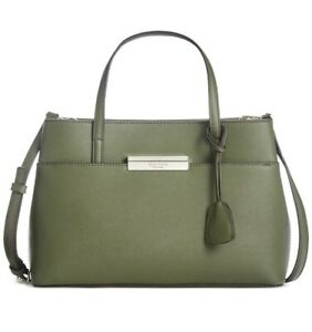 🔥 $348 New Kate Spade Maiden Way Saffiano Zuri Satchel Sapling Tote Olive