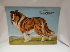 "1940s My Name is Laddie I am a Collie Dog Prize Art Puzzle 200-L:88 14"" x 18"""