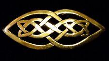 Celtic Ornate Brass Eternity KNOT Brooch/Pin for Scarf,Kilt/Lapel in Gift Box***