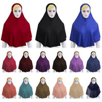 Ramadan Muslim Women Hijab Amira Islamic Full Cover Head Wrap Scarf Long Shawls